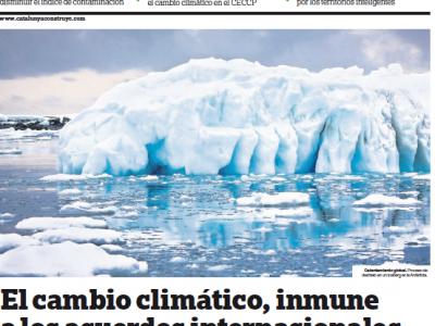Canvi Climàtic; nova col•laboració amb El Periódico